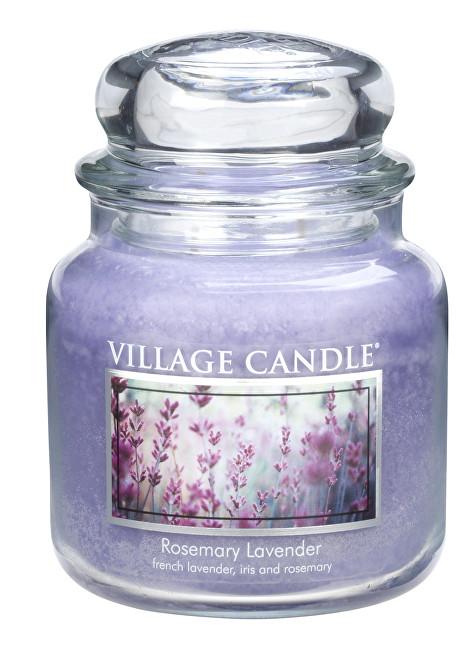 Village Candle Vonná svíčka ve skle Rozmarýn a levandule (Rosemary Lavender) 397 g