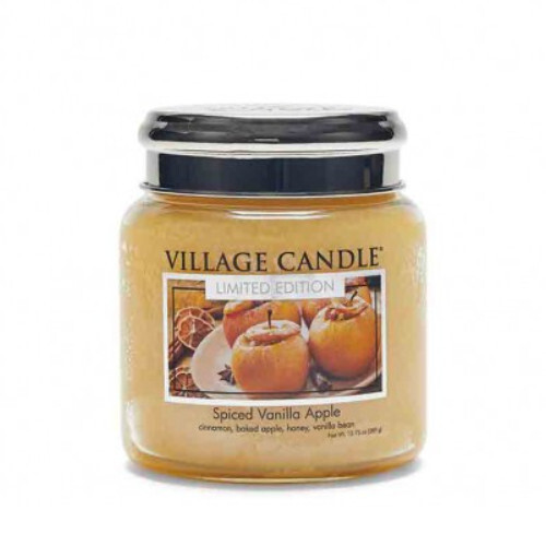 Village Candle Vonná sviečka v skle Spiced Vanilla Apple 390 g