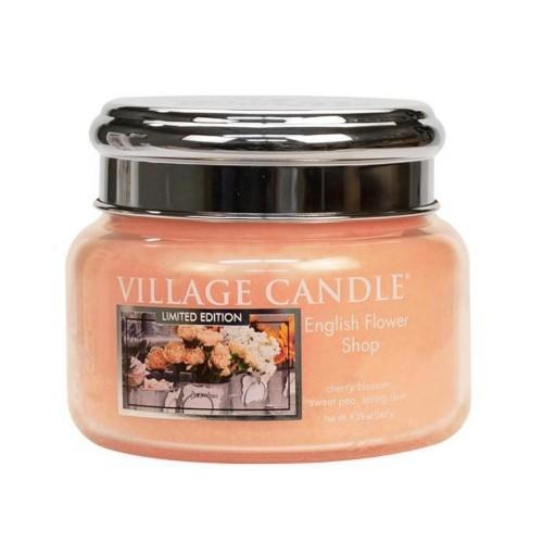 Village Candle Vonná svíčka ve skle Anglické květiny (English Flower Shop) 262 g