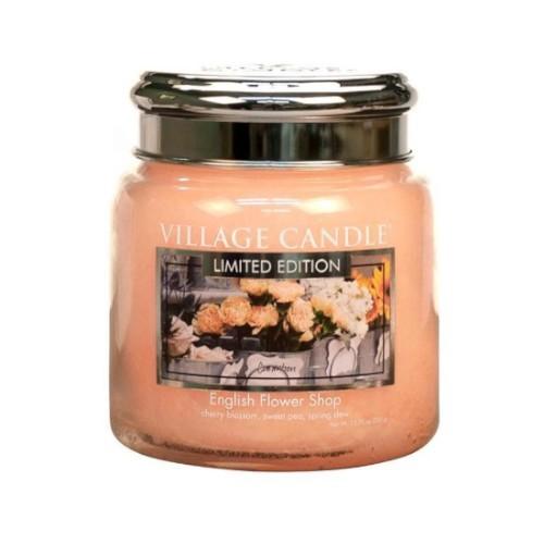 Village Candle Vonná svíčka ve skle Anglické květiny (English Flower Shop) 390 g