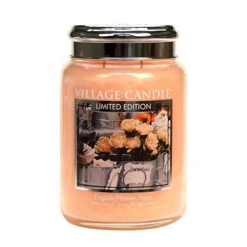 Village Candle Vonná svíčka ve skle Anglické květiny (English Flower Shop) 602 g