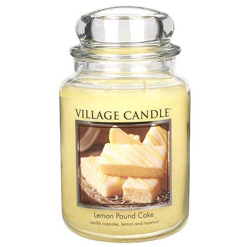 Village Candle Vonná svíčka ve skle Citrónový koláč (Lemon Poud Cake) 645 g