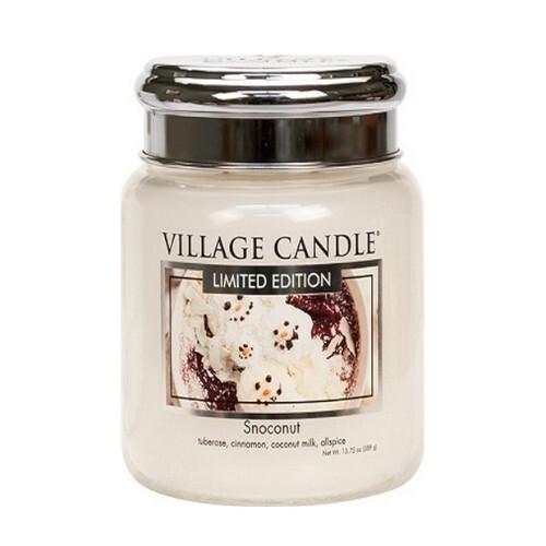 Village Candle Vonná svíčka ve skle Kokosový sníh (Snoconut) 389 g
