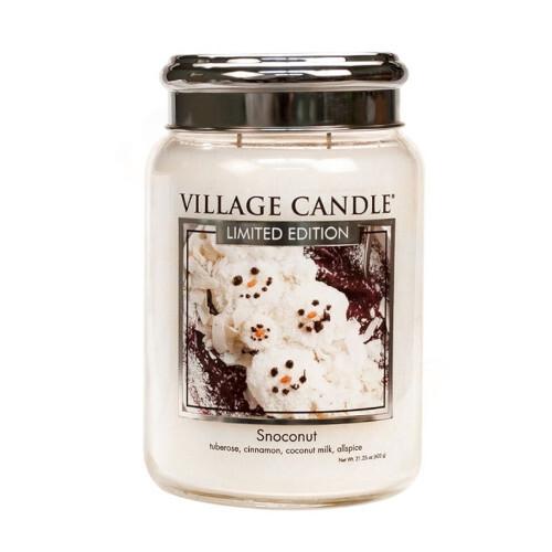 Village Candle Vonná svíčka ve skle Kokosový sníh (Snoconut) 602 g