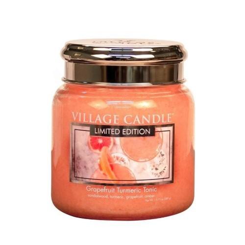 Village Candle Vonná svíčka ve skle Osvěžující tonic (Grapefruit Turmeric Tonic) 390 g