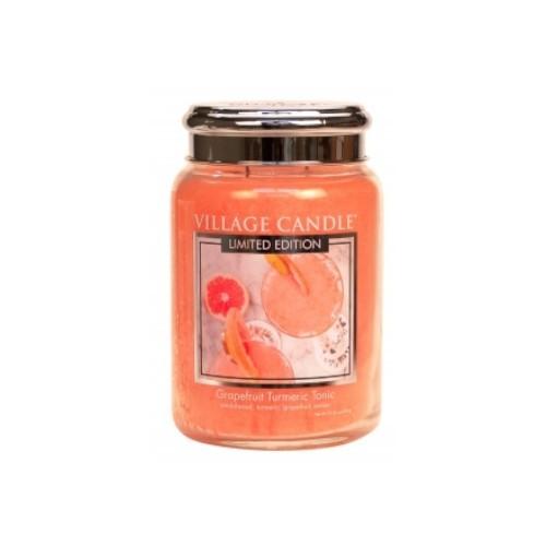 Village Candle Vonná svíčka ve skle Osvěžující tonic (Grapefruit Turmeric Tonic) 602 g