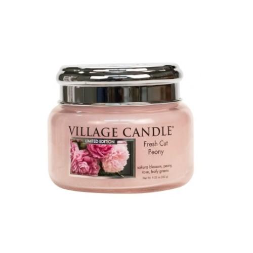 Village Candle Vonná svíčka ve skle Pivoňky (Fresh Cut Peony) 262 g