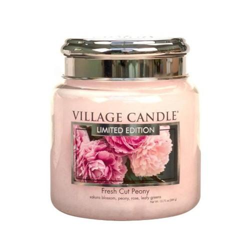 Village Candle Vonná svíčka ve skle Pivoňky (Fresh Cut Peony) 390 g
