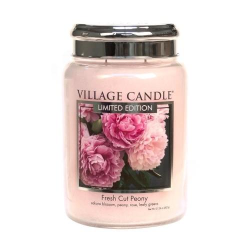 Village Candle Vonná svíčka ve skle Pivoňky (Fresh Cut Peony)
