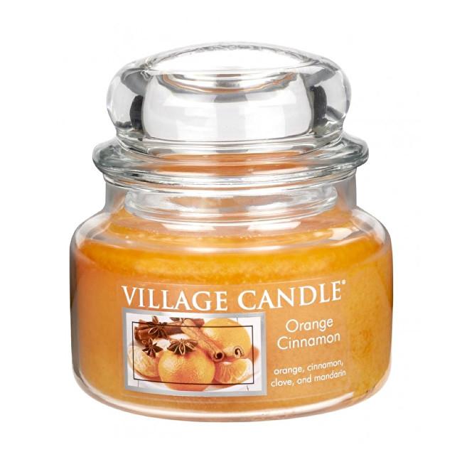 Village Candle Vonná svíčka ve skle Pomeranč a skořice (Orange Cinnamon) 269 g