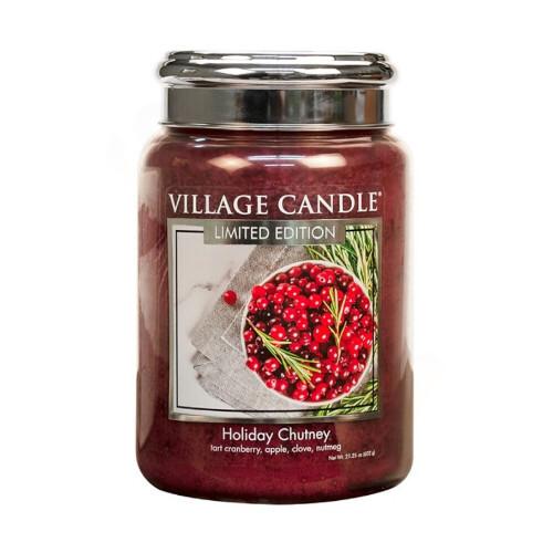 Village Candle Vonná svíčka ve skle Sváteční čatní (Holiday Chutney) 602 g