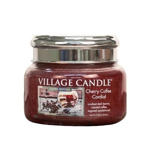 Village Candle Vonná svíčka ve skle Třešňovo kávový likér (Cherry Coffee Cordial) 262 g