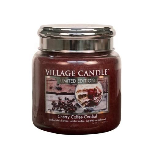 Village Candle Vonná svíčka ve skle Třešňovo kávový likér (Cherry Coffee Cordial) 602 g
