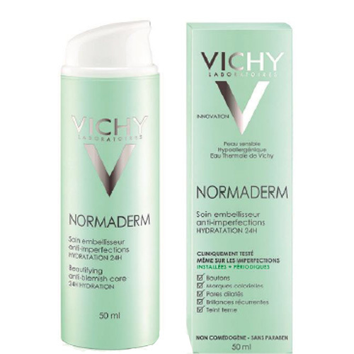 Vichy De ingrijire a frumusetii imperfectiuni ale pielii Normaderm(Soin Embellisseur Anti-Imperfections Hydration 24h) 50 ml