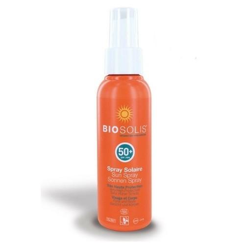 Biosolis Sprej na opaľovanie na tvár a telo SPF 50 (Sun Spray) 100 ml