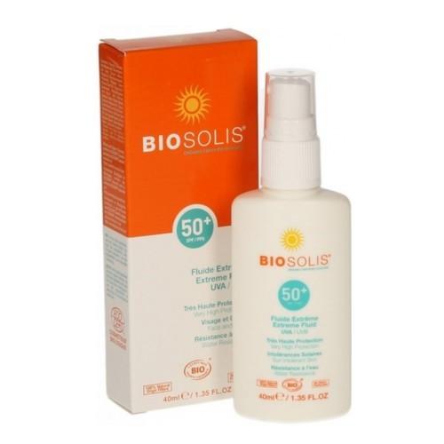 Biosolis Voděodolný sprej na opalování SPF 50 (Extreme Fluid) 40 ml
