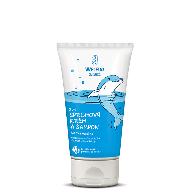 Weleda Sprchový krém a šampon 2 v 1 Sladká vanilka 150 ml