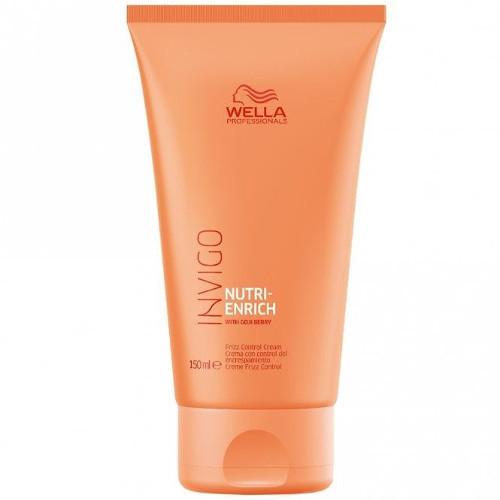 Wella Professionals Bezoplachový krém proti krepatění pro suché a poškozené vlasy Invigo Nutri-Enrich (Frizz Control Cream) 150 ml