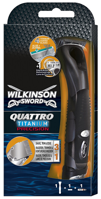 Wilkinson Sword Holicí strojek pro muže Wilkinson Quattro Titanium Precision Carbon