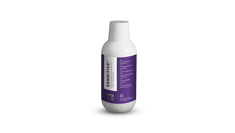 WOOM Ústna voda pre citlivé zuby SENSITIVE   (Mouthwash for Sensitiv e Teeth and Gums) 500 ml