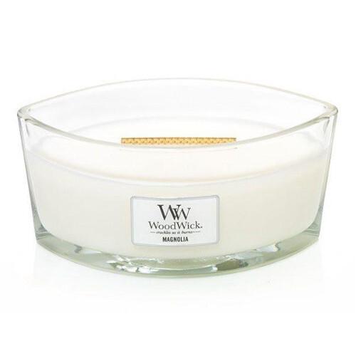 WoodWick Vonná svíčka loď Magnolia 453 g