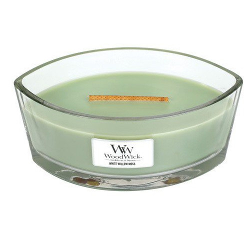 WoodWick Vonná sviečka loď White Willow Moss 453 g