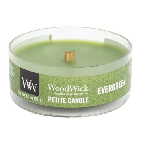WoodWick Vonná svíčka Petite Evergreen 31 g