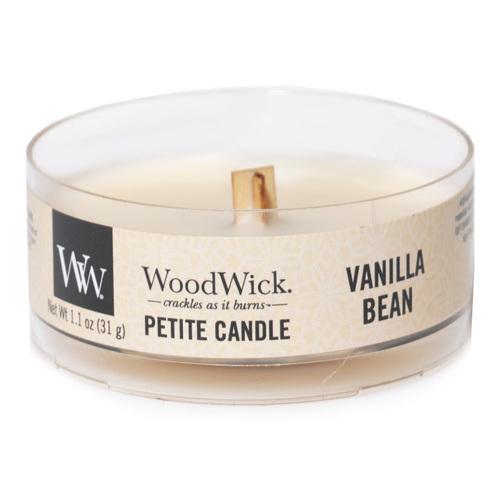 WoodWick Vonná svíčka Petite Vanilla Bean 31 g