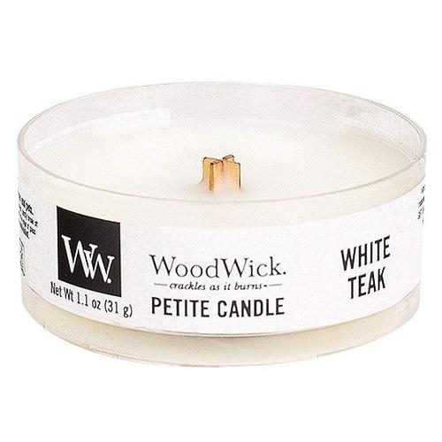 WoodWick Vonná svíčka Petite White Teak 31 g
