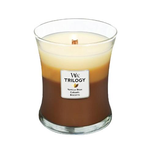 WoodWick Vonná svíčka Trilogy Cafe Sweets 275 g