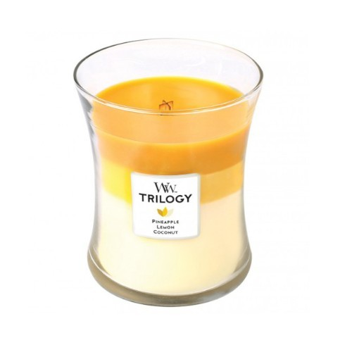 WoodWick Vonná svíčka Trilogy Fruits Of Summer 275 g