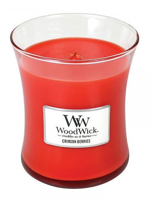 WoodWick Vonná svíčka váza Crimson Berries 275 g