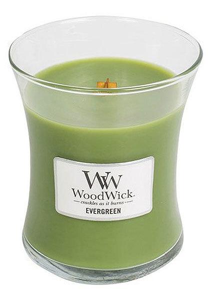 WoodWick Vonná svíčka váza Evergreen 275 g