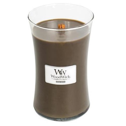 WoodWick Vonná svíčka váza Oudwood 609 g