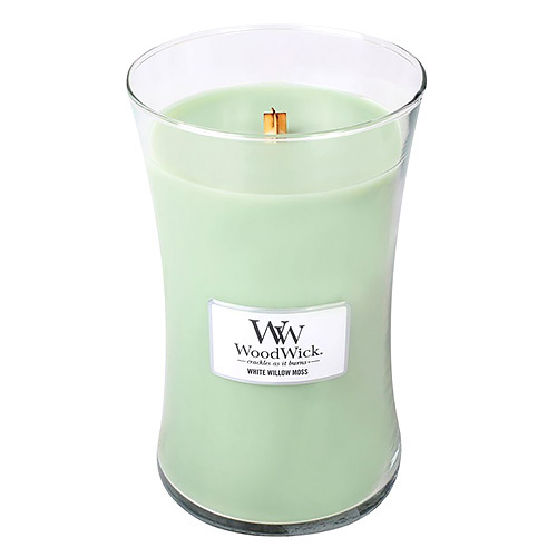 WoodWick Vonná sviečka váza White Willow Moss 609,5 g