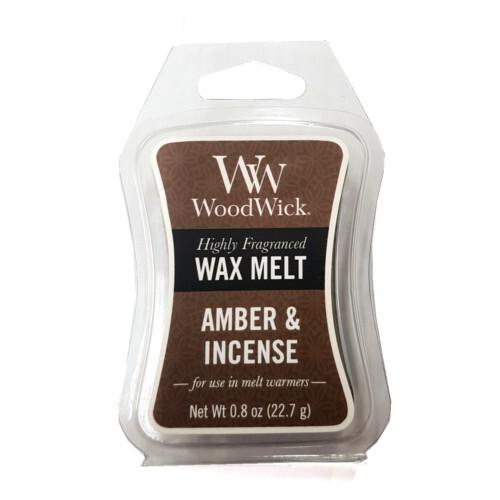WoodWick Vonný vosk Amber & Incense 22,7 g