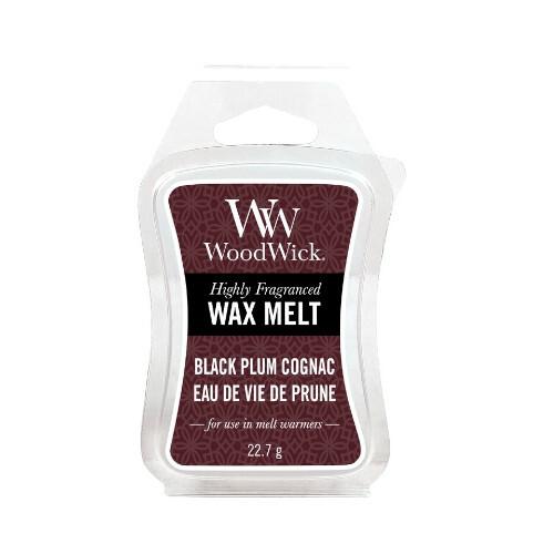 WoodWick Vonný vosk Black Plum Cognac 22,7 g