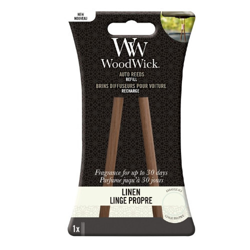 WoodWick Náhradné vonné tyčinky do auta Linen (Auto Reeds Refill)