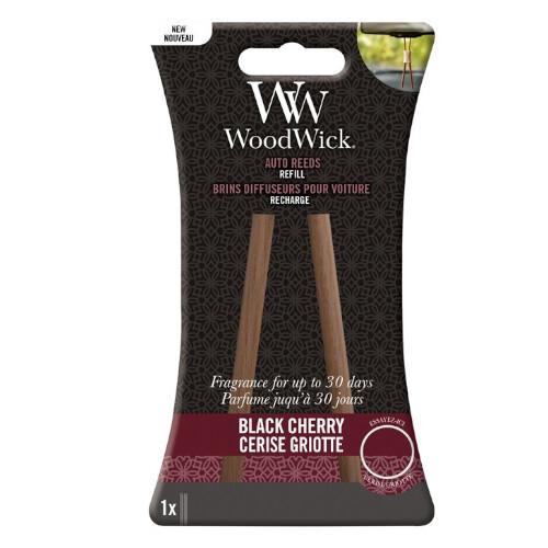 WoodWick Náhradné vonné tyčinky do auta Black Cherry (Auto Reeds Refill)