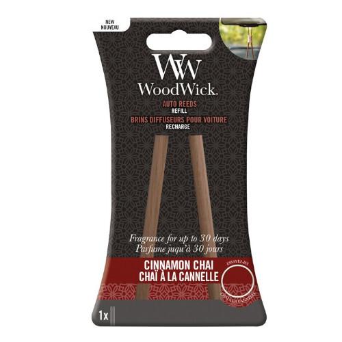 WoodWick Náhradné vonné tyčinky do auta Cinnamon Chai (Auto Reeds Refill)