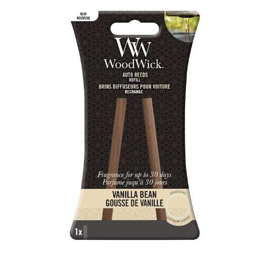 WoodWick Náhradné vonné tyčinky do auta Vanilla Bean (Auto Reeds Refill)