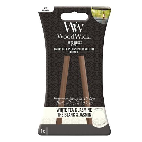 WoodWick Náhradné vonné tyčinky do auta White Tea & Jasmine (Auto Reeds Refill)