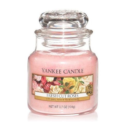 Yankee Candle Aromatická svíčka Classic malá Fresh Cut Roses 104 g