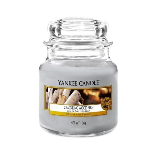 Yankee Candle Aromatická svíčka Classic malý Crackling Wood Fire 104 g