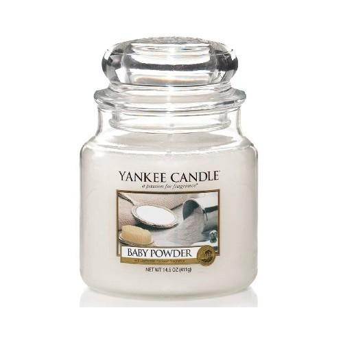 Yankee Candle Aromatická svíčka Classic střední Baby Powder 411 g