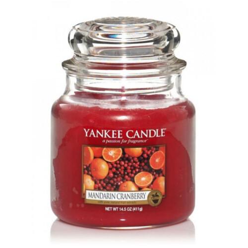 Yankee Candle Aromatická svíčka Classic střední Mandarinka a brusinka (Mandarin Cranberry) 411 g