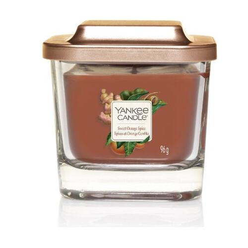 Yankee Candle Aromatická svíčka malá hranatá Sweet Orange Spice 96 g