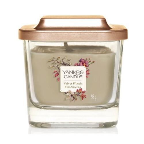 Yankee Candle Aromatická svíčka malá hranatá Velvet Woods 96 g