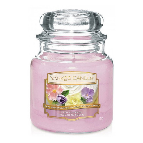 Yankee Candle Aromatická svíčka střední Floral Candy 411 g