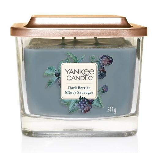 Yankee Candle Aromatická svíčka střední hranatá Dark Berries 347 g